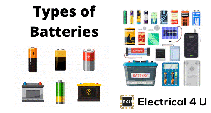 Different types of Rechargeable battery packs