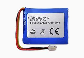 3.7v 55mAh lithium polymer battery