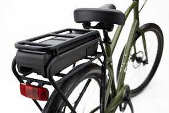 72V Electric bike battery carrier rack