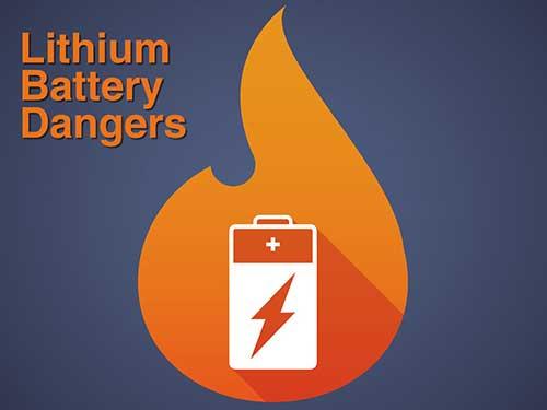 Figure 6 Dangerous Lithium Ion Battery