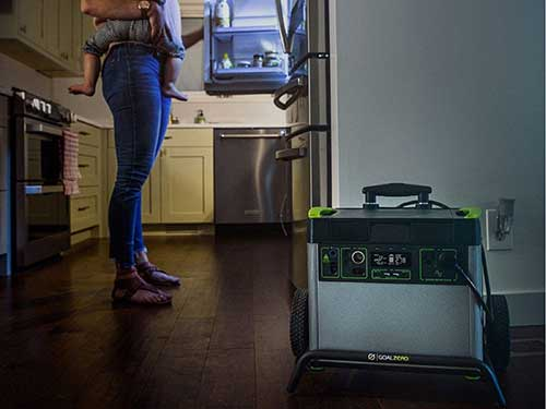 Portable Power Station powering a Refrigerator