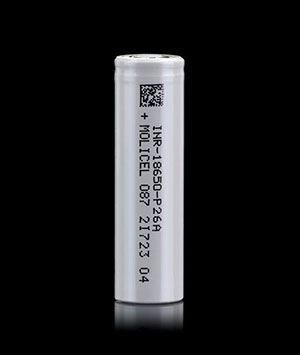 drone battery made of molicel p26a cell
