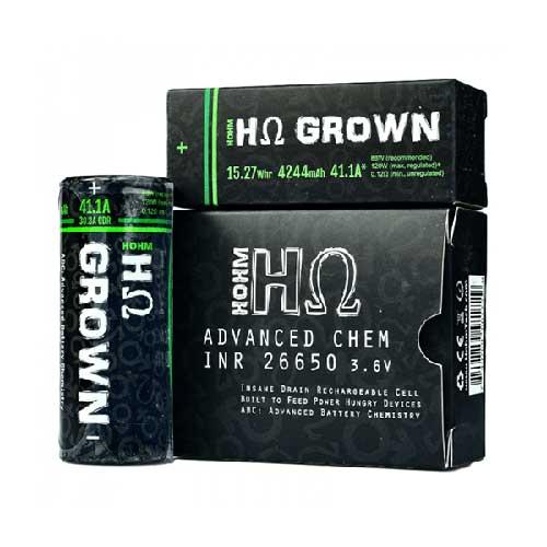 Hohm Tech Grown 26650 Battery