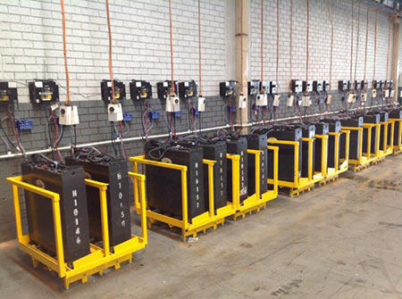charging a lithium forklift battery